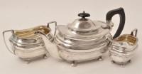 Lot 417 - A George V three-piece silver tea service, by...