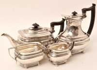 Lot 418 - A George V four-piece silver tea service, by...