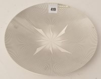 Lot 419 - A George VI silver dish, by Mappin & Webb,...