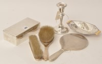 Lot 423 - A George VI silver dressing table set, by...
