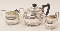 Lot 433 - A George V three-piece silver tea service, by...