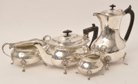 Lot 438 - An early 20th Century silver matched...