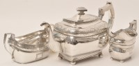 Lot 439 - A George III two-piece silver tea service, by...