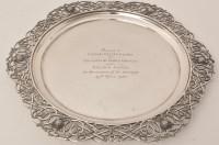 Lot 441 - A George V silver commemorative plate, Dublin...