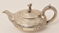Lot 443 - A George IV silver bachelors teapot, by...
