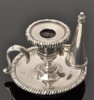 Lot 448 - A George IV silver chamber stick, by Charles...