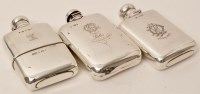 Lot 449 - A Victorian silver hip flask, by Sampson,...