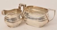 Lot 458 - A George V silver sugar bowl and cream jug, by...