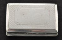 Lot 460 - A Victorian silver snuff box, by Nathaniel...