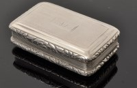 Lot 461 - A George IV silver snuff box, by T.S.,...