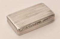 Lot 462 - An early Victorian silver snuff box, by...