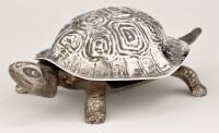 Lot 466 - An Edwardian silver novelty tortoise table...