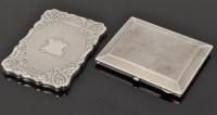 Lot 469 - A George VI silver card case, by Edward Smith,...