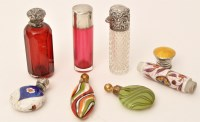 Lot 471 - A late Victorian cut glass scent bottle with...