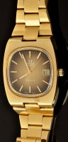 Lot 496 - Omega automatic, Geneve: a 1970's gold plated...