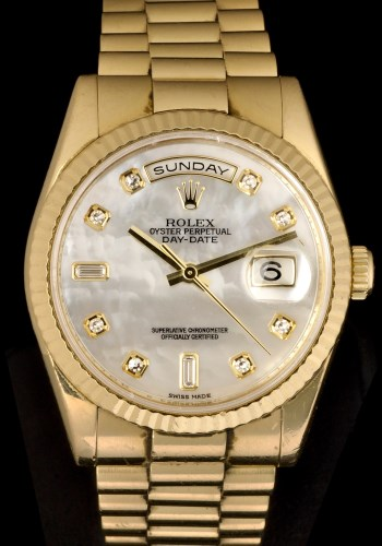 Lot 503-A gentleman's 18k gold Rolex Oyster Perpetual Day ...