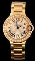 Lot 504 - Cartier Ballon Bleu: a lady's 18k gold and...