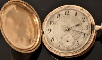 Lot 507 - A gentleman's 9ct. gold cased pocket watch,...