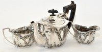 Lot 431 - A Victorian three-piece silver bachelors tea...