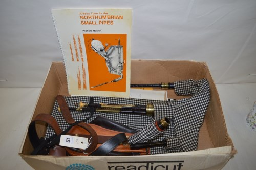 Lot 427 - A set of Northumbrian small pipes; together...