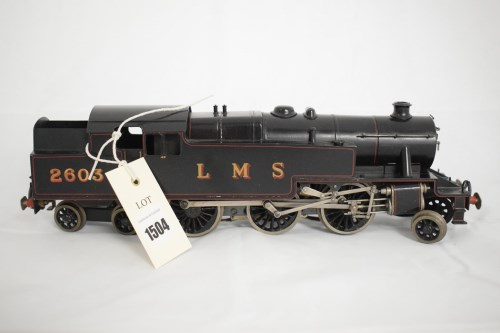 Lot 1504-Bassett Lowke 0-gauge 2-6-4 electric locomotive,...