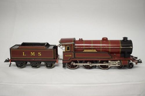 Lot 1523-Bing for Bassett Lowke 0-gauge 4-6-0 clockwork...