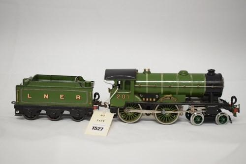 Lot 1527-Hornby 0-gauge 4-4-0 20v electric locomotive,...