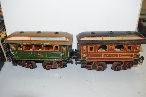 Lot 1601 - An Antique Bing 0-4-0 tank locomotive with...