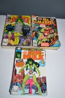 Lot 1012 - Ms Marvel, 1-23; The Savage She-Hulk, 1-24;...
