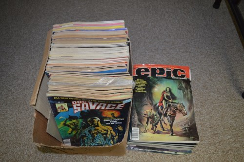 Lot 1584-Marvel Epic and Curtis magazines, including:...