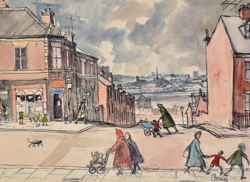 Lot 197 - Norman Stansfield Cornish (1919-2014) ''Street...