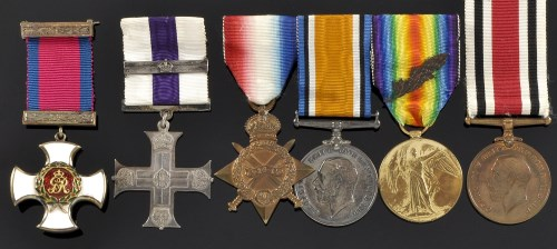 Lot 382-A World War I and later group of medals,...