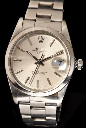 Lot 618-Rolex Oyster Perpetual Date: a stainless steel...