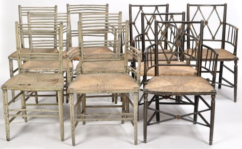 Lot 819 - A set of 19th Century four single and two arm...