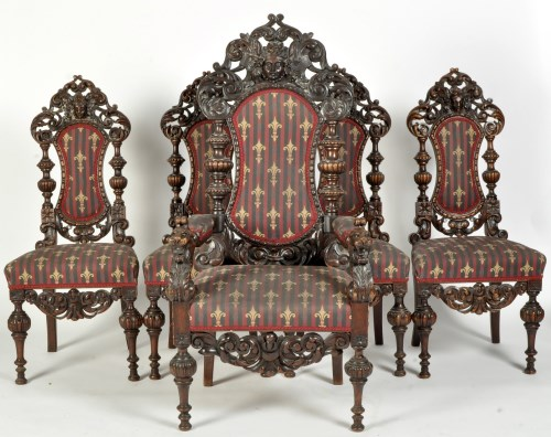 Lot 826 - A set of twelve single and two arm 19th...