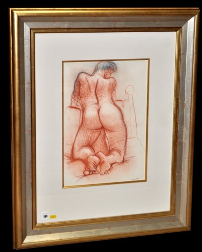 Lot 194-Peter Howson, OBE (1958- ) Female nude study,...