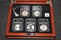 Lot 64 - ''The Complete Set of American Eagle Silver...