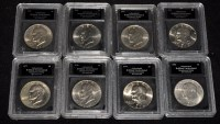 Lot 68 - Eisenhower dollars 1971/2/3/4/6 (times 2) /7/8,...