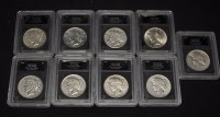 Lot 69 - Peace silver dollars, 1922 - 1928, 1934 and...