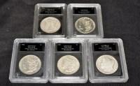 Lot 70 - Morgan silver dollar, 1900, 1901, 1902, 1904...