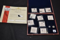 Lot 85 - 11 ''Smallest Silver Coins of the World'',...