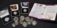 Lot 87 - Silver proof coins to include crowns from 1935,...