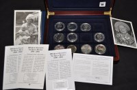 Lot 88 - Quantity of silver proof coins, some with...
