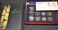 Lot 94 - ''The Millionaires Collection'', 9 silver...