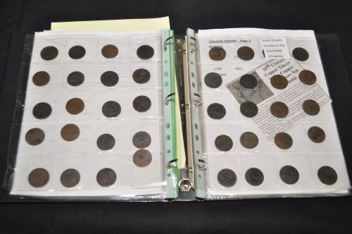 Lot 97-A collection of copper coinage including 19th and ...