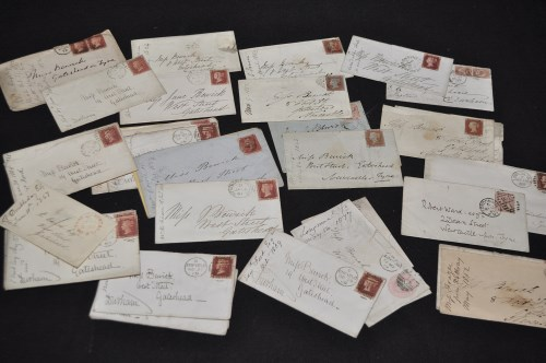 Lot 180-Thomas Bewick interest: 34 19th Century covers,...