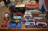 Lot 803 - A Mamod steam model car; and diecast model...