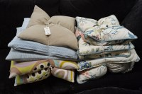 Lot 1 - Two bundles of miscellaneous cushions.