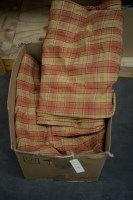 Lot 19 - Three pairs of check patterned curtains,...