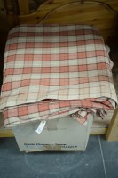 Lot 20 - Two large pairs of check patterned curtains,...